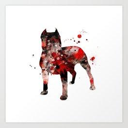 Dark Pitbull Art Print