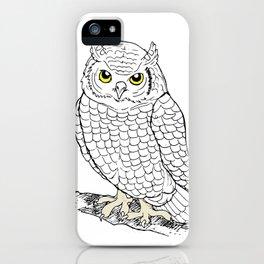 Cute Owl by Ines Zgonc iPhone Case
