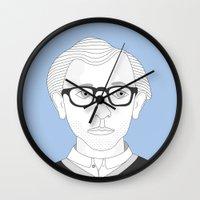 woody allen Wall Clocks featuring WOODY ALLEN by armantas