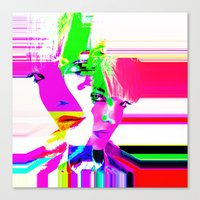 holographic Canvas Prints featuring future holographic lover by Robert Alan