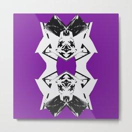 Dark Purple Scrunch Metal Print