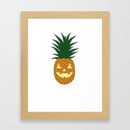 Carved Pineapple Hawaiian Halloween Framed Art Print