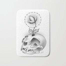Skull Flower Bath Mat