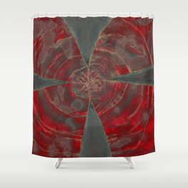 Ominous Red Shower Curtain