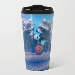 Racoon Basketball Game Travel Mug