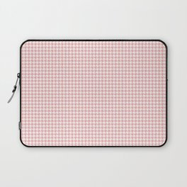 Blush Pink and White Hounds Tooth Check Laptop Sleeve