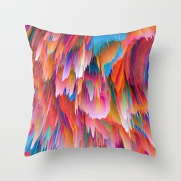 Pieces of Scorched Earth Raining Down Throw Pillow
