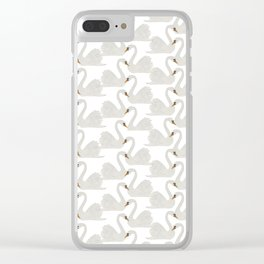 Two Swans a Swimming Clear iPhone Case