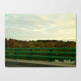 Just another fall drive. Canvas Print