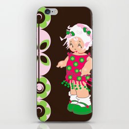 little miss coco iPhone Skin