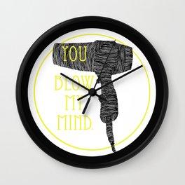 Mind-blower Wall Clock