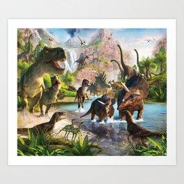 Jurassic dinosaur Art Print
