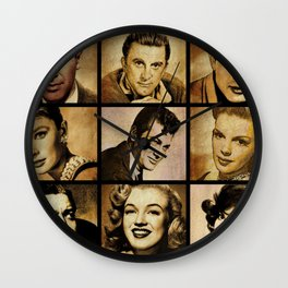 Hollywood Legends Wall Clock