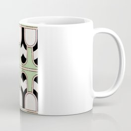 Vintage Mint Green Assyrian Pattern with a hint of Art Deco Coffee Mug
