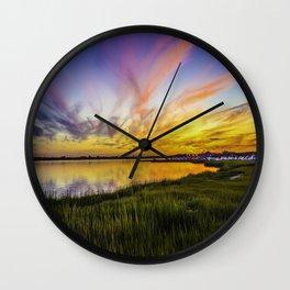 Cape May Sunset Wall Clock