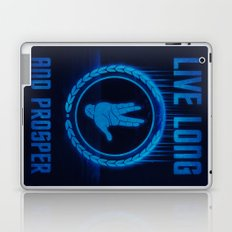 Live Long and Prosper - Spock's hand - Leonard Nimoy Geek Tribut Laptop & iPad Skin