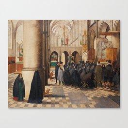 ABEL GRIMMER, THE PREACHER. Canvas Print