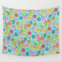 roses Wall Tapestries featuring ROSES by Bianca Green