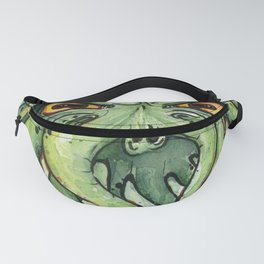 Cthulhu HP Lovecraft Green Monster Tentacles Fanny Pack
