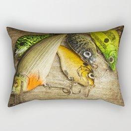 Dad's Fishing Crankbaits Rectangular Pillow