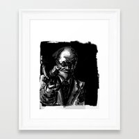 freud Framed Art Prints featuring Freud by Long Live The Doughnuts
