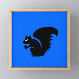Angry Animals: Squirrel Framed Mini Art Print
