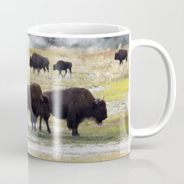 North American Buffalo near the hot springs in Yellowstone National Park Coffee Mug