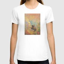 Muse on Pegasus - Odilon Redon T-shirt