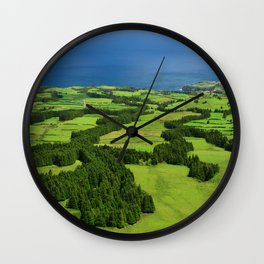 Typical Azores landscape Wall Clock