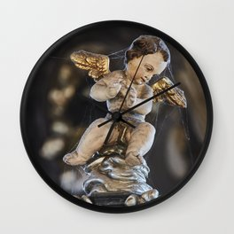 Sedlec Ossuary Cherub Photo Art, Skull Bone Church Wall Clock
