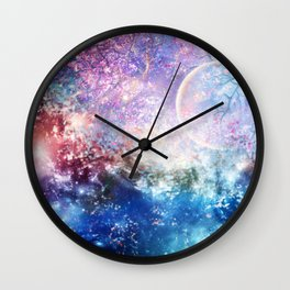Fantasy space Wall Clock