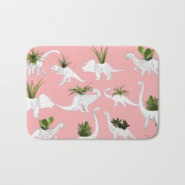 Dinosaurs & Succulents Bath Mat