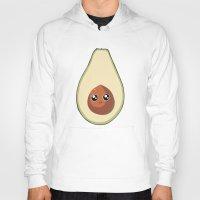 avocado Hoodies featuring Avocado by GarethAdamson