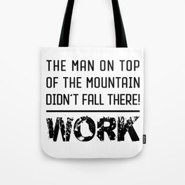 Work - Hustle Motivation for Entrepreneurs Fitness Trainer And Bodybuilder Tote Bag
