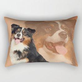 Black tricolor Australian Shepherd - Aussie Rectangular Pillow