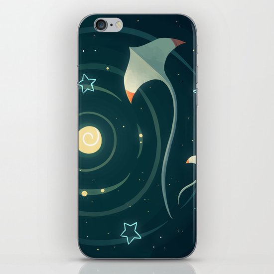 Space Ray iPhone Skin