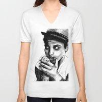 bruno mars V-neck T-shirts featuring B MARS  by Miss Kicks