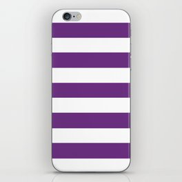 Eminence - solid color - white stripes pattern iPhone Skin