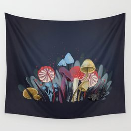 Wild Mushrooms Wall Tapestry