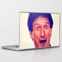 robin williams Laptop & iPad Skins featuring Young Robin Williams  by Thubakabra