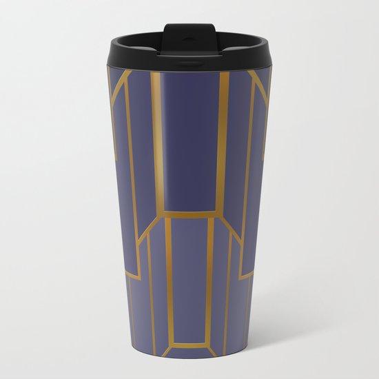 ART DECO G3 (abstract artdeco geometric) Metal Travel Mug