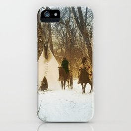 The winter camp - Crow (Apsaroke) Indians iPhone Case