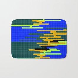 Blue Green Yellow 8Bit Clouds Bath Mat