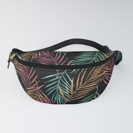 Tropical leaves night pattern design Fanny Pack