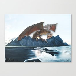 The Mountain Dragon in Iceland Canvas Print