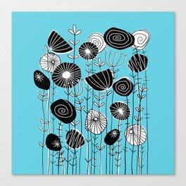Wildflowers Grow Free Canvas Print