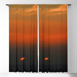 cloudy sunset seascape Blackout Curtain