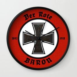 Der Rote Baron Wall Clock