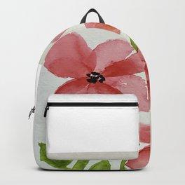 Whimsical Watercolor Flowers Backpack