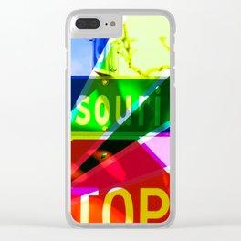 Multi-Colored Missouri Clear iPhone Case